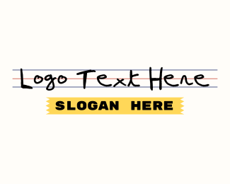 Office Supplies - School Supplies Store Wordmark logo design