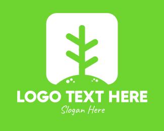 Agriculturist - White Eco Plant  logo design