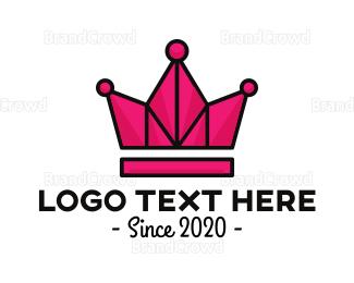 Tiara - Geometric Tiara logo design
