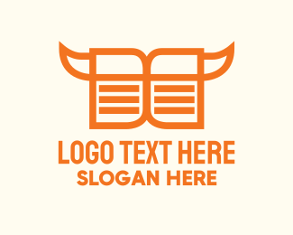 Logbook - Orange Cowboy Book  logo design