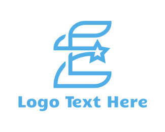 Light Blue - Blue E Star logo design