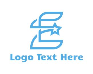 Politician - Blue E Star logo design