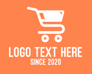 Shopping Cart - Grocery Shopping Cart logo design