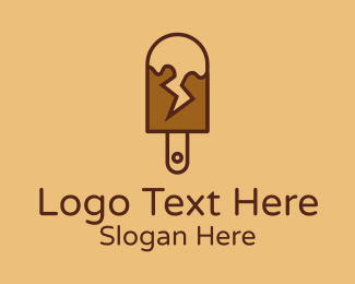 Creamery - Chocolate Lightning Popsicle  logo design