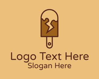 Chocolate - Chocolate Lightning Popsicle logo design