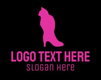 Shoe - Cat Boot logo design