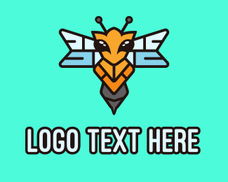 Fly - Flying Hornet Wasp logo design