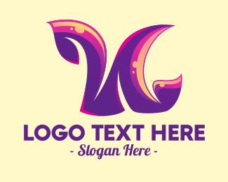 Letter N - Hippie Letter N logo design