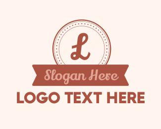 Coffee Brand - Circle Banner Lettermark logo design