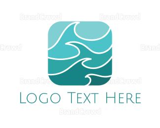 Beachwear - Turquoise Waves logo design