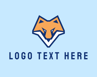 Coyote - Fox Animal Mascot logo design
