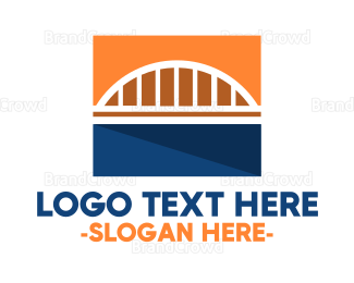 Cologne - Abstract Suspended Bridge  logo design