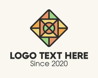 Tiler - Stained Glass Square Tile logo design