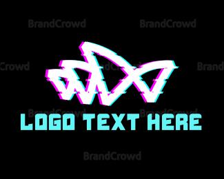 Distorted - Anaglyph Opera House logo design