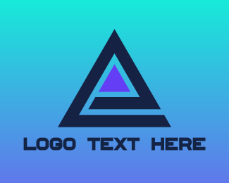 Ag - Blue Triangle E logo design