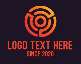General - Digital Orange Target logo design