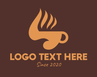 Hot Coffee - Coffee Cup Bird logo design