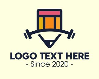 Fitness - Fitness Gym Pencil School Academy logo design