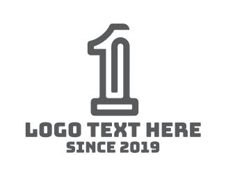 Number 1 - Office Clip Number 1 logo design