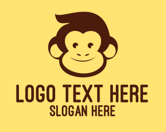 Monkey - Brown Happy Monkey logo design
