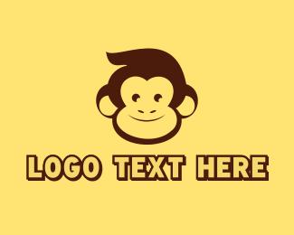 Brown - Brown Happy Monkey logo design