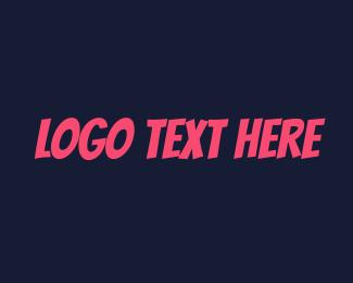 Typography - Fun Party Text logo design