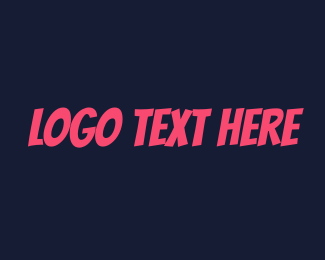 Blogger - Fun Party Text logo design