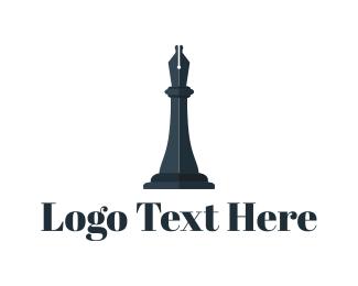 Bishop - Chess Piece logo design
