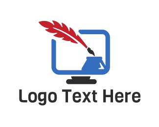 Writer - Blog Writer logo design