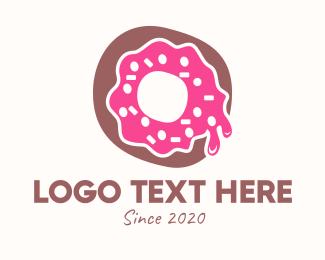 Delicious - Donut Icing Doughnut logo design