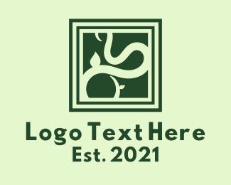 Frame - Green Vine Frame logo design