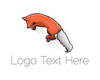 Coyote - Fox Jump logo design