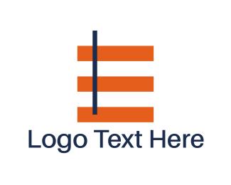 Crossover - Minimalist Letter E logo design
