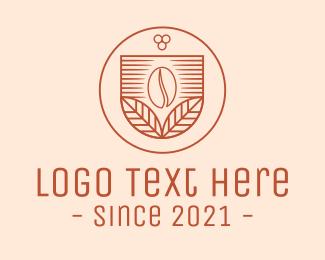 Arabica - Leaf Coffee Bean Cafe logo design