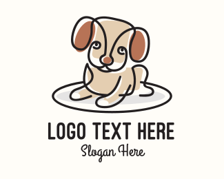 Pet Accessories - Cute Monoline Puppy logo design