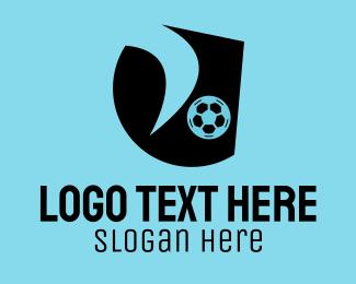 Player - Soccer Player Emblem logo design