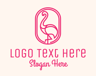 Therapist - Pink Flamingo logo design