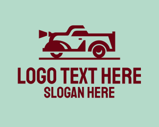 Vintage - Vintage Red Car logo design