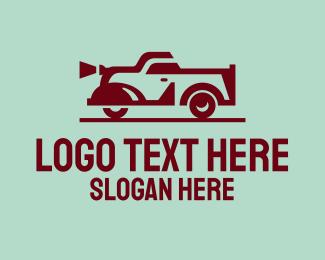 Car Accessories - Vintage Red Car logo design