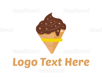Frozen - Chocolate Ice Cream logo design