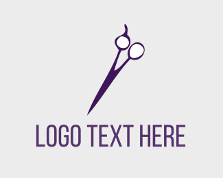 Cut - Purple Hair Salon logo design