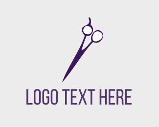 Scissors - Purple Hair Salon logo design
