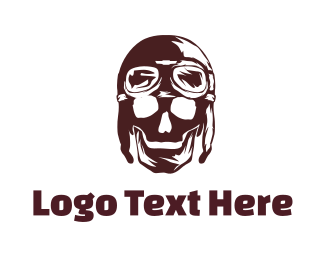 Pilot - Skull Pilot logo design