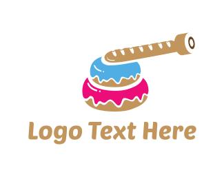 Donut - Tank Donut logo design