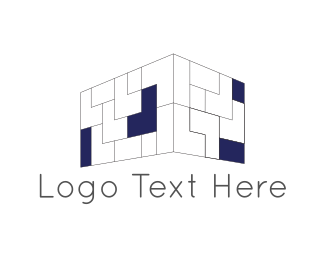 Contractor - Brick Wall logo design