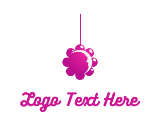 Bed - Flower Mobile logo design