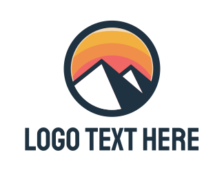 Monochrome - Vibrant Mountain Badge  logo design