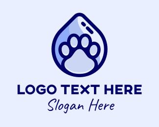Domestic - Pet Wash Paw Grooming  logo design