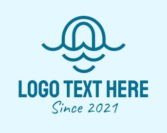 Oceanic - Blue Ocean Letter O logo design