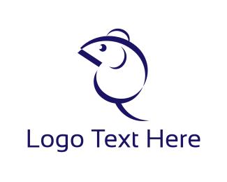Rat - Blue Mouse logo design
